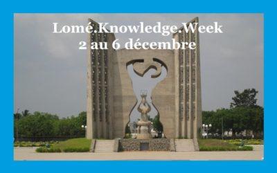 Lomé.Knowledge.Week – La semaine de connaissance de Lomé du 2 au 6 décembre 2019.